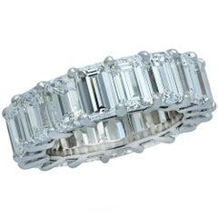 12 Carat Emerald Cut Diamond Eternity Band