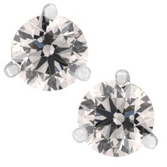 GIA Certified 1.41 Carat Diamond Stud Earrings