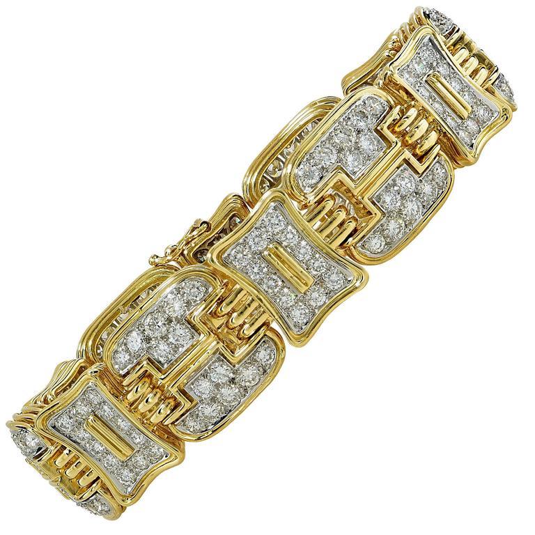 Diamond Two Color Gold Bracelet