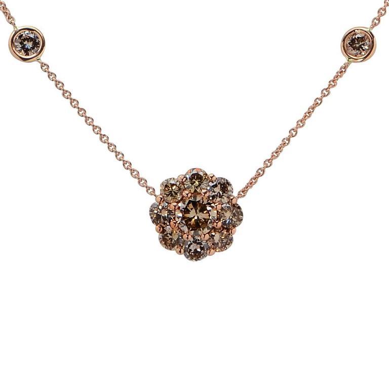 Fancy Color Diamond Gold Necklace