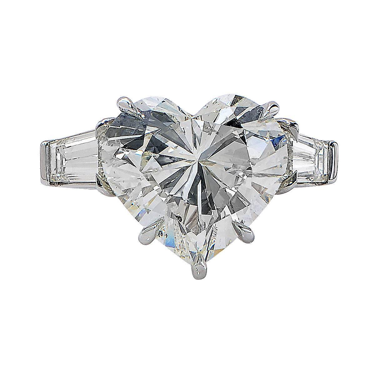 carat heart shaped diamond platinum engagement ring