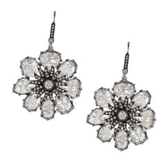 Vivid Diamonds 14.14 Carat Diamond Slice Gold Earrings