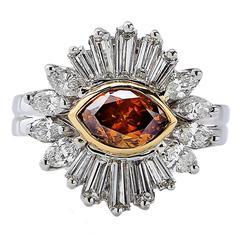 1.27 Carat GIA Fancy Color Diamond Ring