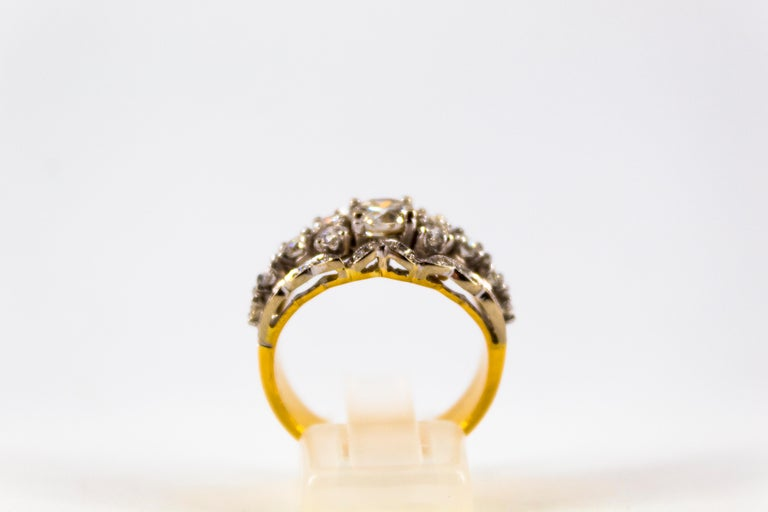 This Ring is made of 18K Yellow Gold. This Ring has a 0.80 Carats Central White Diamond. This Ring has 1.20 Carats of White Diamonds. Size ITA: 17 USA: 8 We're a workshop so every piece is handmade, customizable and resizable.