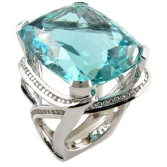 Fleur Marine, Mermaids Most Beautiful Jewel Aquamarine Diamond Ring