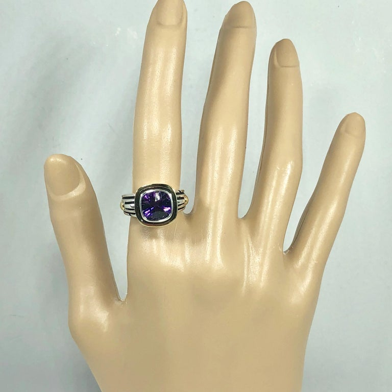 John Atencio 18 Karat Sterling Amethyst Cocktail Ring For Sale 5