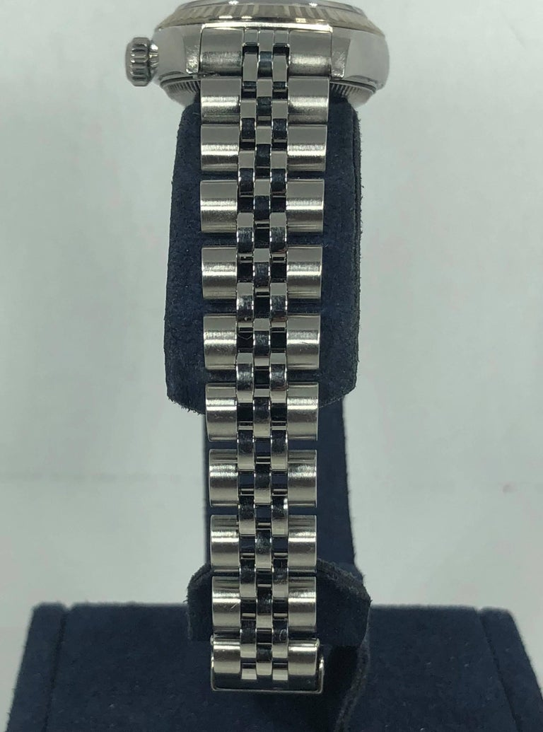 Rolex Ladies white gold Stainless Steel Datejust Automatic wristwatch Ref 79174 For Sale 7
