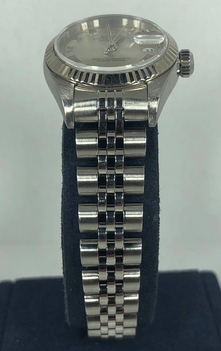 Rolex Ladies white gold Stainless Steel Datejust Automatic wristwatch Ref 79174 For Sale 9