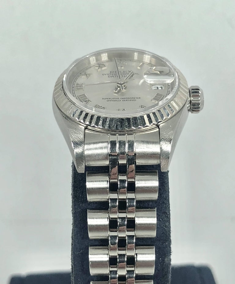 Rolex Ladies white gold Stainless Steel Datejust Automatic wristwatch Ref 79174 For Sale 11