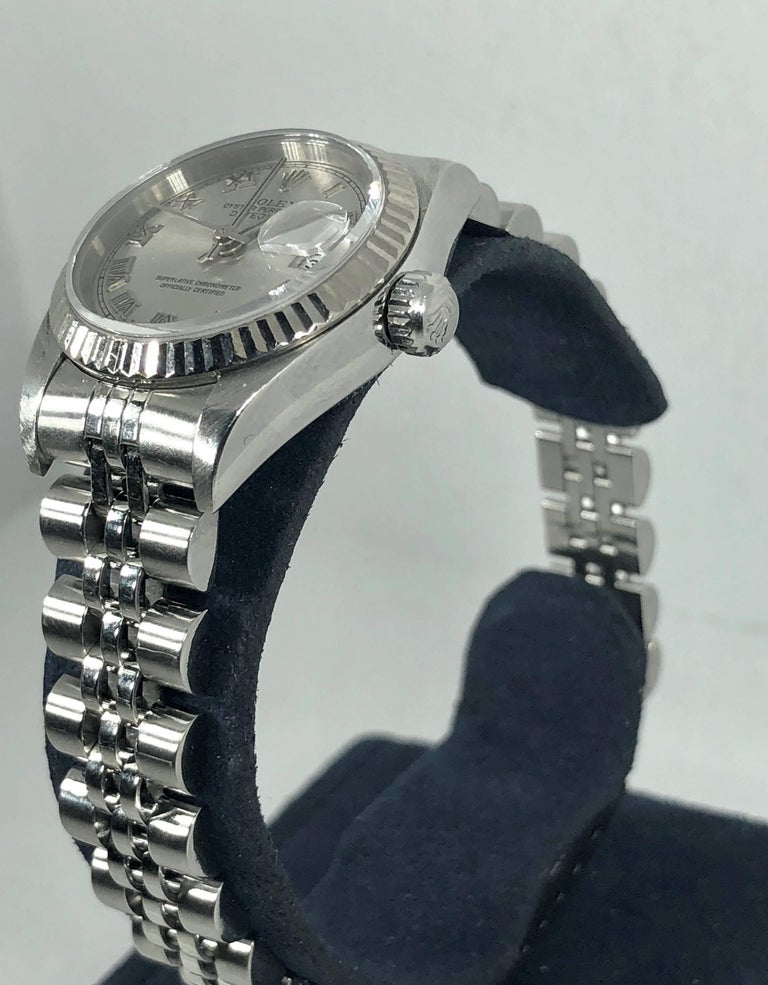 Rolex Ladies white gold Stainless Steel Datejust Automatic wristwatch Ref 79174 For Sale 10