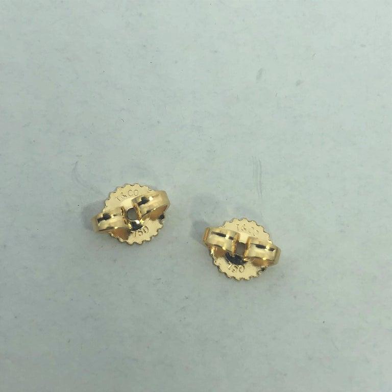Tiffany & Co. 18 Karat Yellow Gold Love Knot Stud Earrings For Sale 4