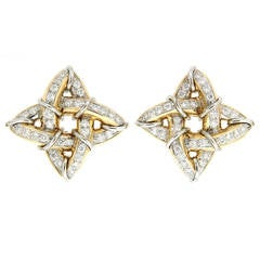 Diamond Gold Platinum Gothic Earrings