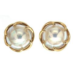 Valentin Magro Blister Pearl Gold Claw Earrings