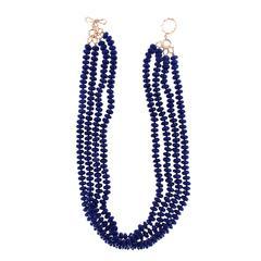4 Strand Lapis Lazuli Necklace