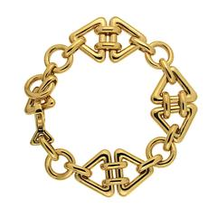 Triangular Motif Gold Bracelet