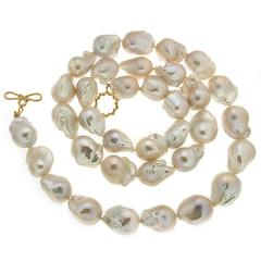 Freshwater Large Baroque Pearl Necklace