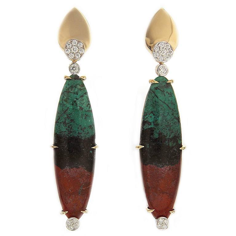 Valentin Magro Diamond Gold Sonora Sunset Earrings