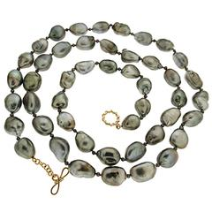 Tahitian Keshi Pearl Necklace
