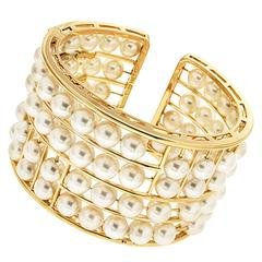 Akoya Pearl Floating Cuff Bracelet