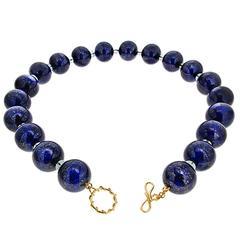Lapis Lazuli and Aquamarine Necklace
