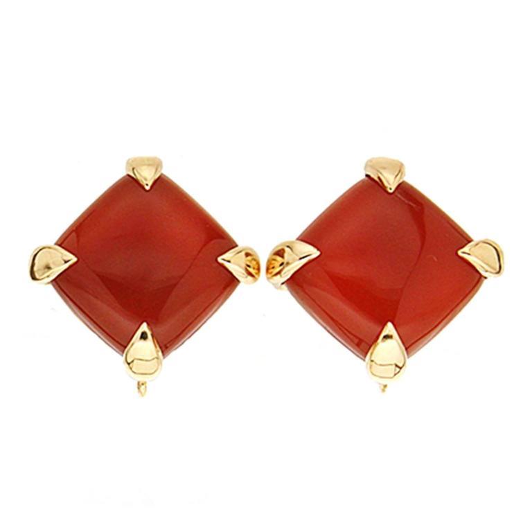 Valentin Magro Carnelian Gold Earrings