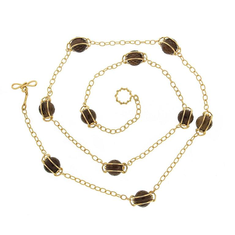Doppio Smokey Topaz Necklace 1