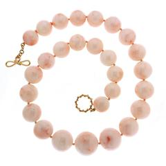 Angel Skin Coral Ball Necklace