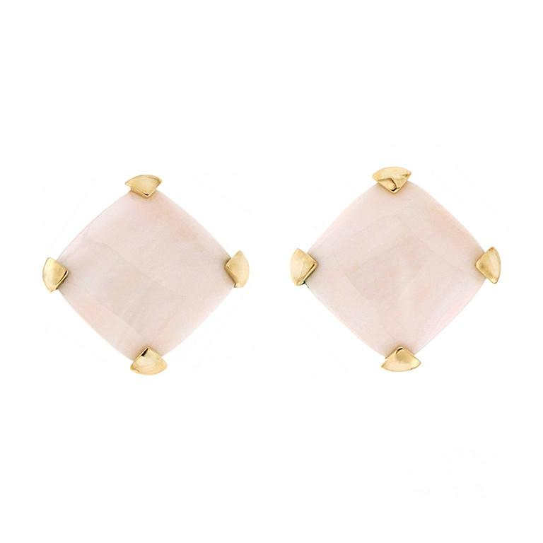 Valentin Magro Cushion White Coral Earrings