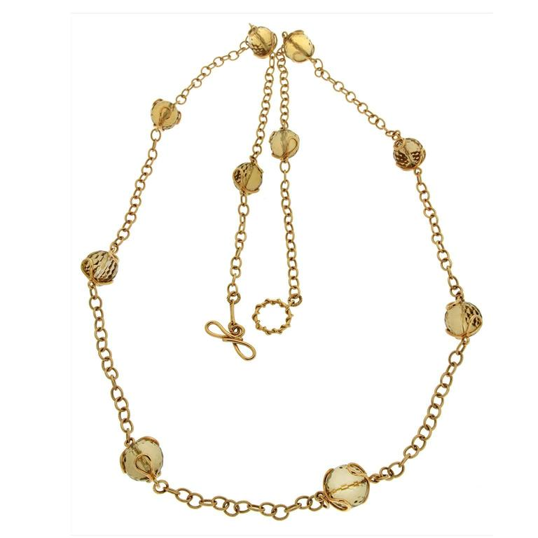 Carina Citrine facet ball necklace 2