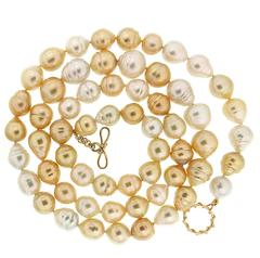 Valentin Magro South Sea and Golden Pearl Necklace