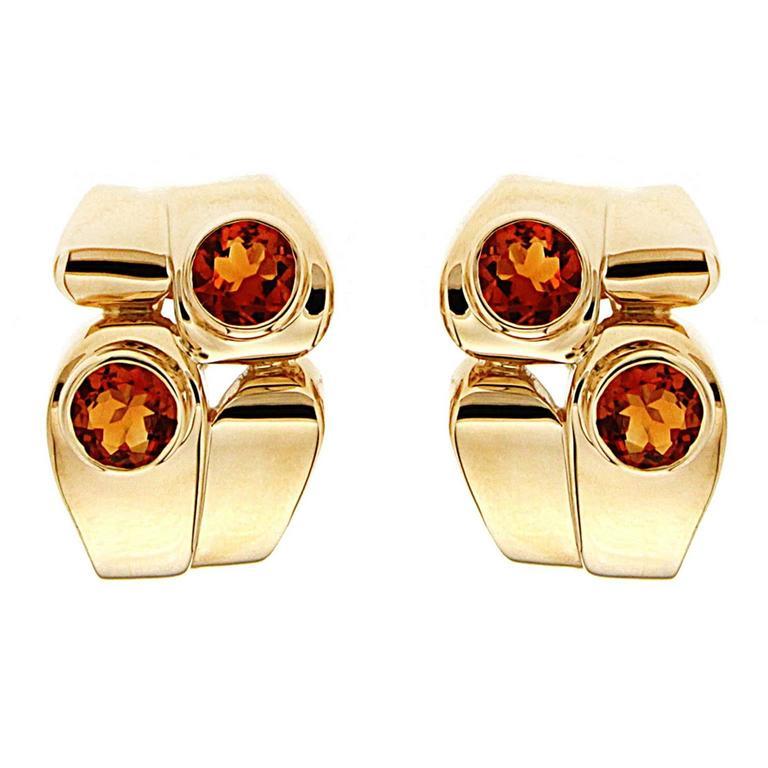 Valentin Magro Asymmetrical Citrine Gold Earrings