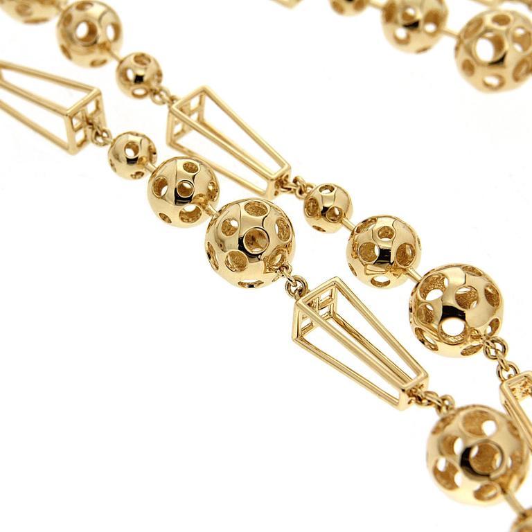 Celestial Planet Orbits Gold Necklace 2