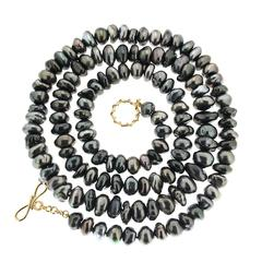 Long Strand Tahitian Keshi Pearl Necklace