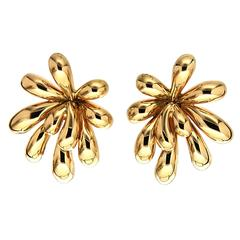 Large Splish Splash Gold Earrings