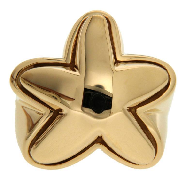 Valentin Magro High Polish Gold Starfish Ring