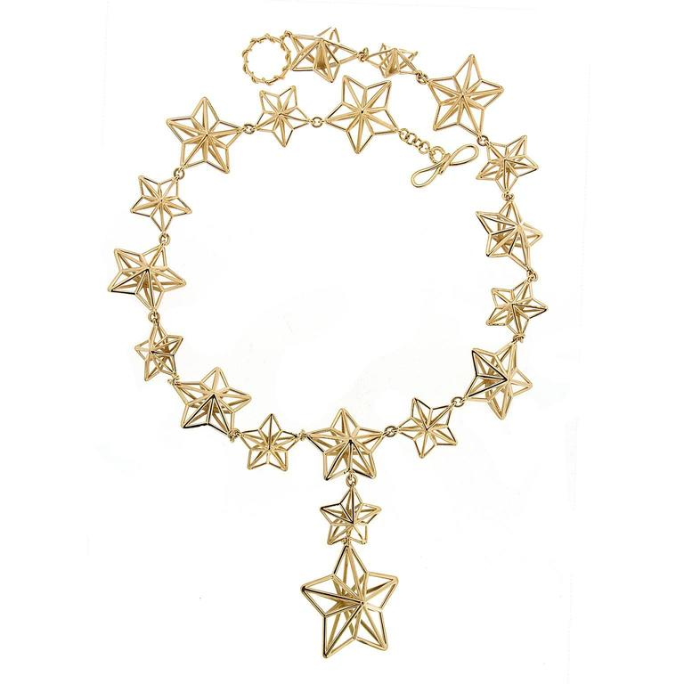 Shooting Stars Gold Necklace