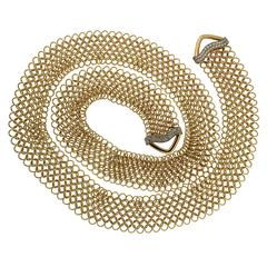 Unique Diamond Gold Multi-Wear Necktie Mesh Necklace