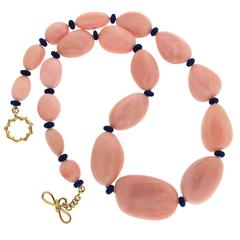 Valentin Magro Rare Peruvian Opal Lapis Rondelles Gold Necklace