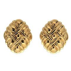 Bundled Up Gold Woven Earrings