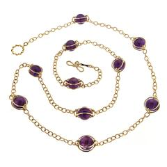 Doppio Smooth Violet Quartz Necklace