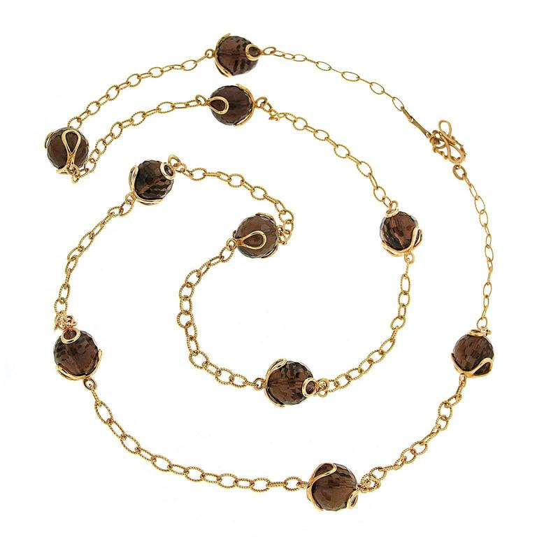 Valentin Magro Carina Smoky Topaz Necklace