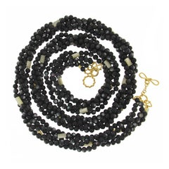Valentin Magro Multi Strands Black and White Mother-of-Pearl Necklace