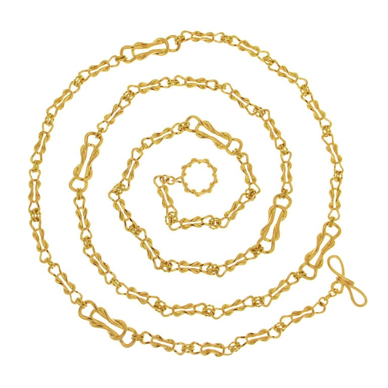 Gold Nautical Necklace For Sale