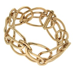 Gold Looping Ribbon Bracelet