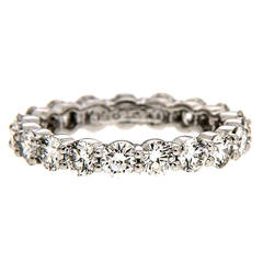 2.8 Carat Diamond Platinum Eternity Band