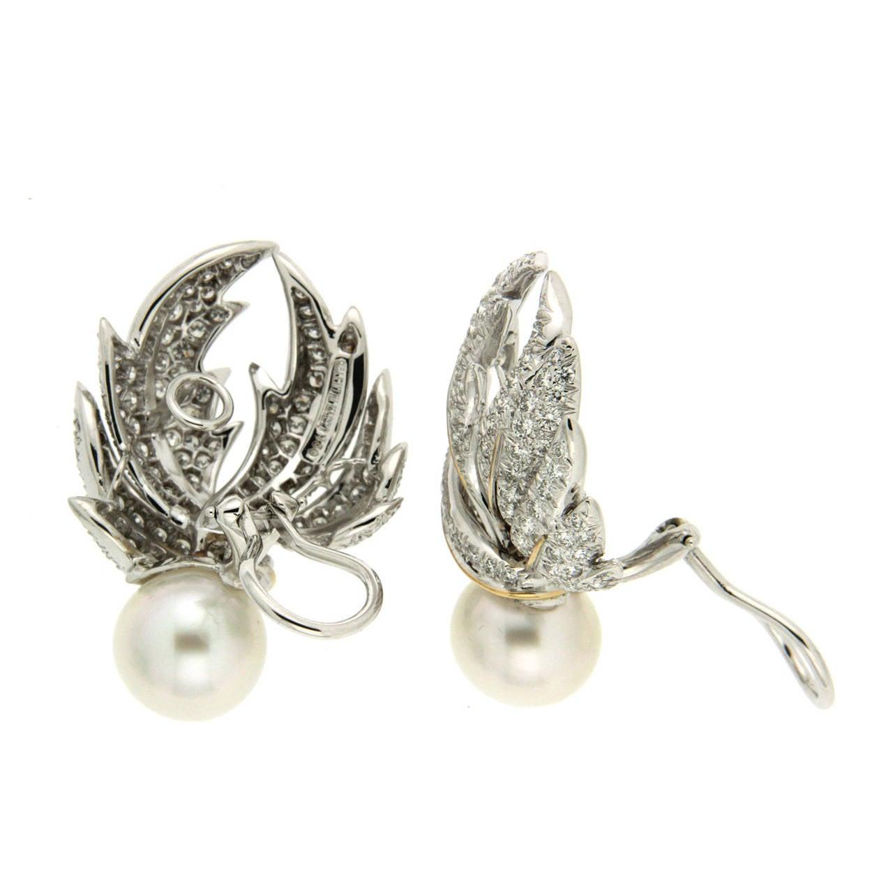 Valentin Magro Diamond Pave Multi-Leaf Earrings   2