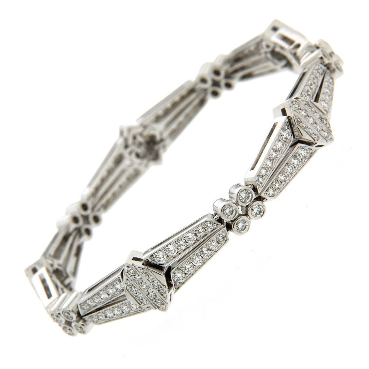Valentin Magro Diamond Gold Double Row Link Bracelet