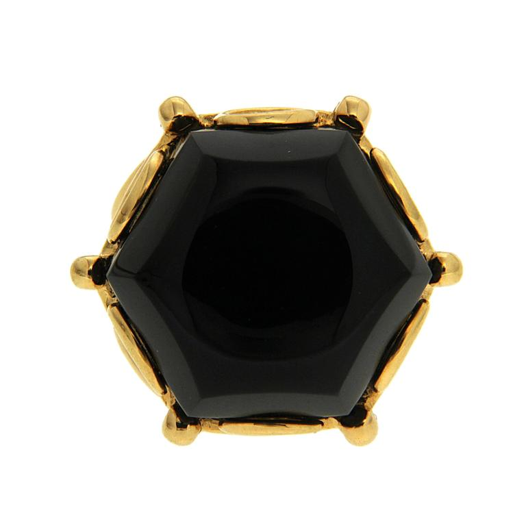 Valentin Magro Special Cut Onyx Gold Hexagon Ring 2