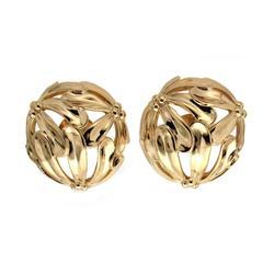 Gold Daisy Sphere Earrings
