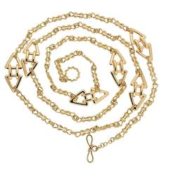 Mariner Knot Interlocking Gold Necklace